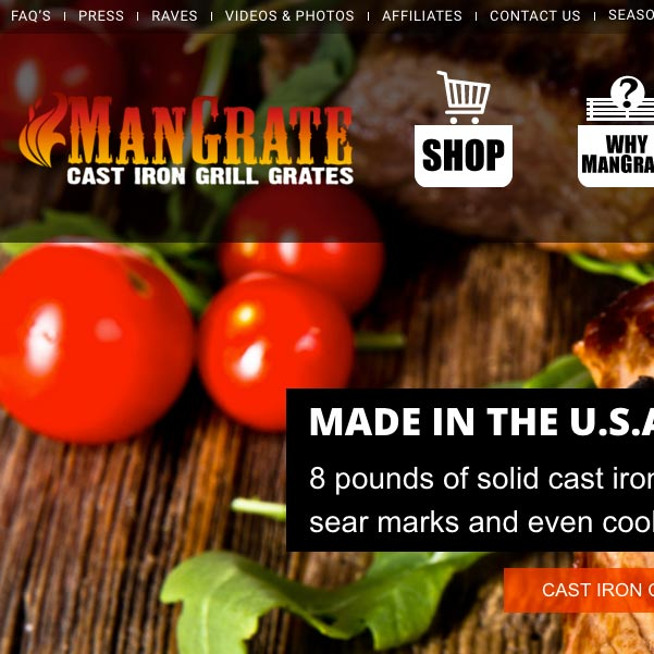 e-commerce website design - mangrate