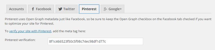 Pinterest Rich Pins Confirmation