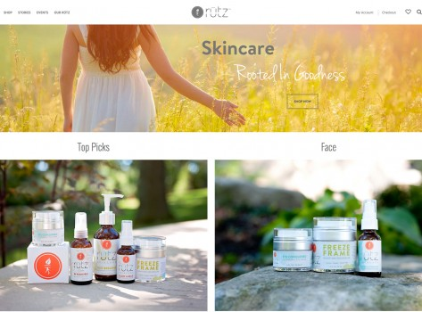 Portfolio - Rutz Skincare E-Commerce Website