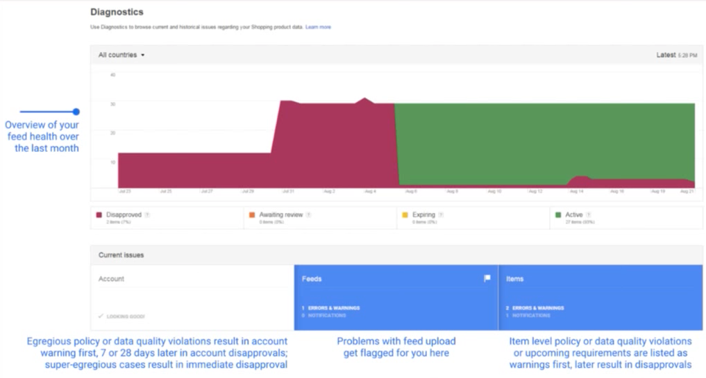 Google Product Feed Diagnostic Report