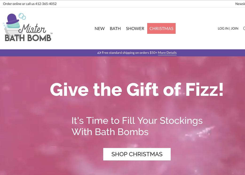 Mister Bath Bomb - pittsburgh ecommerce design