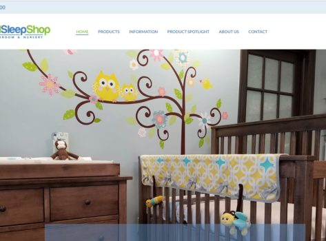 The Natural Sleep Shop - Pittsburgh Web Design